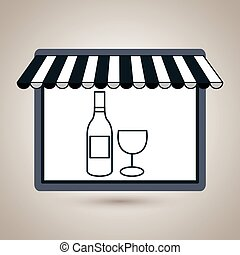 store market shop wine vector illustration eps10