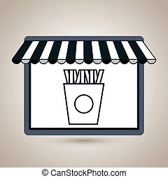 store market shop fries vector illustration eps10 eps 10