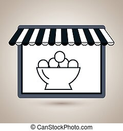 store market shop eggs vector illustration eps10
