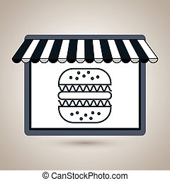 store market shop burger vector illustration eps10
