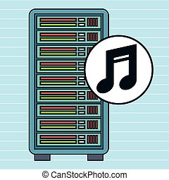 server computer music note vector illustration eps10 eps 10