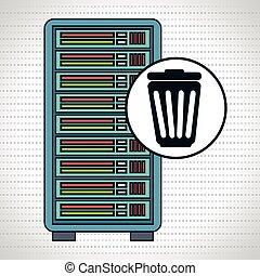 server computer trash spam vector illustration eps10 eps 10