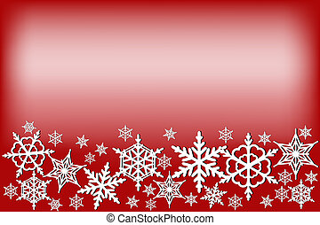 Christmas red background with white snowflakes
