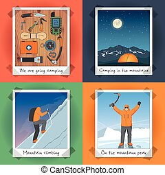 Climbing Concept Set - Illustration On The Theme Of...