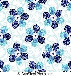 Repeating white floral pattern