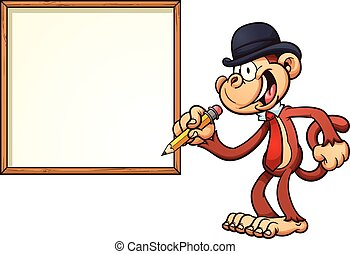 Monkey with board