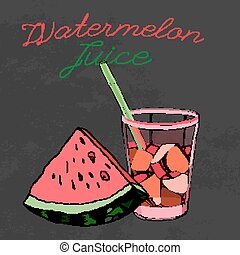 Hand drawn Watermelon 02 A