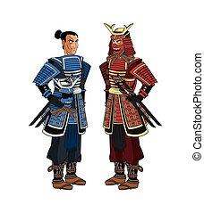 Samurai man cartoon design - Samurai man cartoon with...