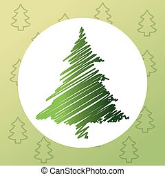 merry christmas pinetree design - pine tree plant icon Merry...