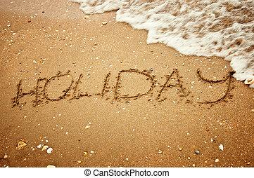 Holiday on summer beach sand