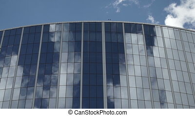 Windows Business Center - The windows of the business center...