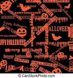 Halloween background with bats and pumpkin. vector...