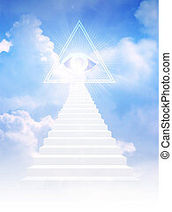 Jacob ladder leads to freemason symbol