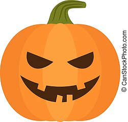 Vector halloween pumpkin with sinister smiling face