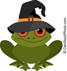 Halloween frog mascot vector on white background - Halloween...