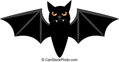 Halloween flying bat isolated on white vector