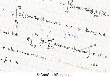 matemático, ecuaciones