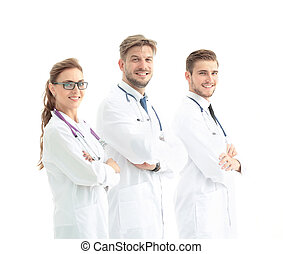 A group of the young successful doctors - healthcare and...