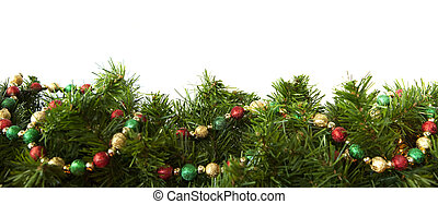 Christmas Garland - Christmas garland decorated with a...