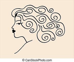 Sketch woman vector
