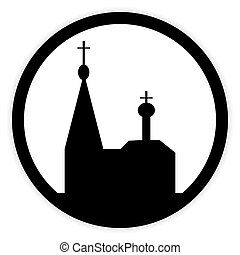 Orthodox church button. - Orthodox church button on white...