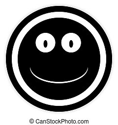 Smile face circle button.