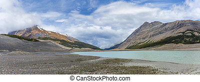 Meltwater from the Columbia Ice Field - Alberta, Canada -...