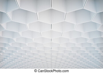 White honeycomb pattern - Abstract white honeycombhexagon...