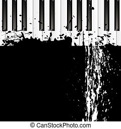 dirty spot on the piano - Smudges on the piano, vector art...