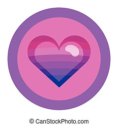 Bisexual colors love symbol. Nice and simple illustration
