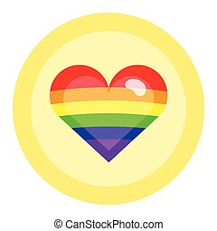 LGBT flag colors heart. Nice and simple illustration