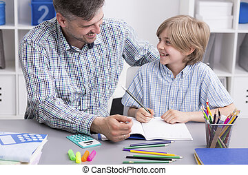 His son can always count on his help - Shot of a smiling man...