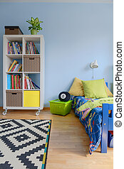 Fun with colors, textures and styles - Child room with...