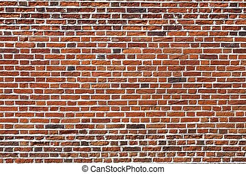 Brick wall - Red brick wall, ideal for a background