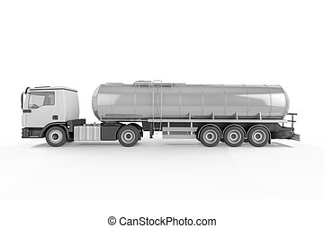 Big Tanker Truck isolated on white background