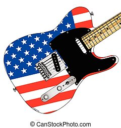 Stars And Stripes Elelctric Guitar - A classic electric...