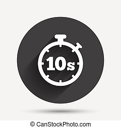 Timer 10s sign icon. Stopwatch symbol. - Timer 10 seconds...
