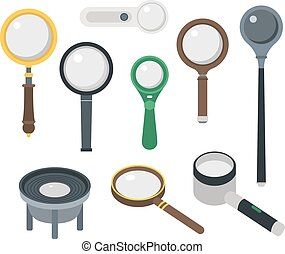 Magnifier loupe icons vector illustration. - Optical...