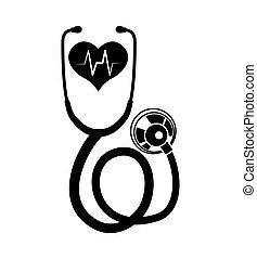 heart stethoscope medical care design