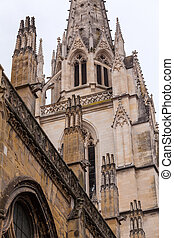 Stone Carving of Cathedral Sainte-Marie de Bayonne, France