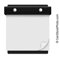 Blank Page - Hanging Wall Calendar - Write your own text on...