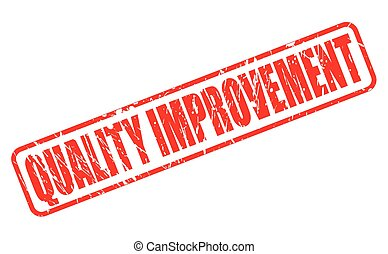QUALITY IMPROVEMENT red stamp text on white