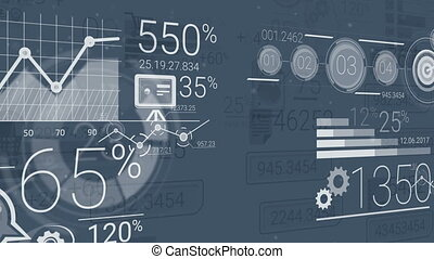 Dark Blue Corporate Background With Abstract Elements Of...