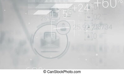 Clear Gray Corporate Background With Abstract Elements Of Infographics