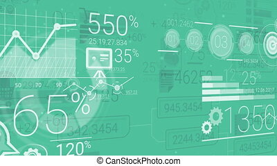 Green Corporate Background With Abstract Elements Of...