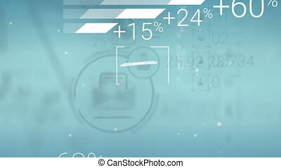 Clear Blue Corporate Background With Abstract Elements Of...