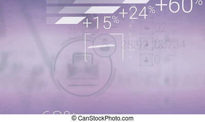 Clear Corporate Background With Abstract Elements Of...