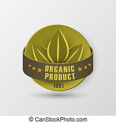 Icon organic product - The label organic product Isolated...