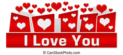 I Love You Red Hearts