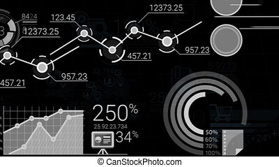 Abstract Elements Of Infographics With Alpha Channel -...